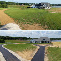 A before & after of the driveway we installed.